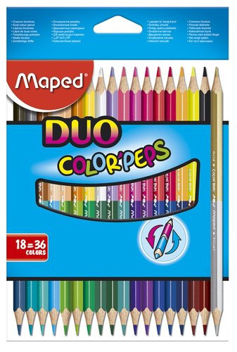 Pastelky Maped Color'Peps Duo - oboustranné pastelky, 36 barev