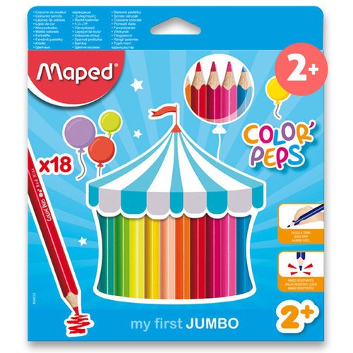 Maped Pastelky Color'Peps Jumbo - 24 barev