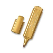 Faber-Castell Zvýrazňovač  Textliner 46 Metallic metalický zlatý