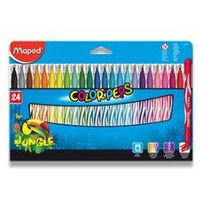 Dětské fixy Maped Color´Peps Jungle - 24 barev