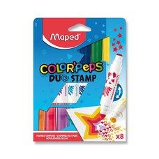 Maped Dětské fixy Color´Peps Duo Stamp 8 barev