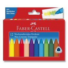 Faber-Castell Voskovky Wax Triangular Crayons 12 barev, trojhranné