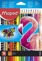 Pastelky Maped Color´Peps Animals - 18 barev