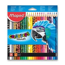 Pastelky Maped Color´Peps Animals - 24 barev