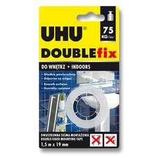 Oboustranná lepicí páska Uhu Double Fix - 19 mm x 1,5 m
