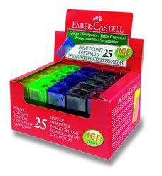 Ořezávátko Faber-Castell Flue - s odpadní nádobou - 1 otvor, mix barev