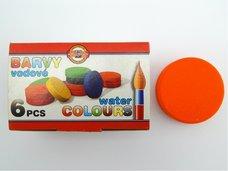 Barva oranžová vodová