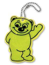 Reflexní přívěsek Medvěd, žlutá