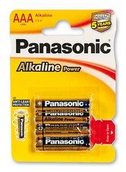 Baterie Panasonic Alkaline Power - AAA, 4 ks
