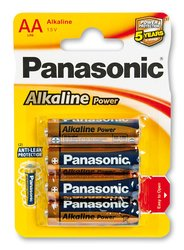 Baterie Panasonic Alkaline Power - AA, 4 ks