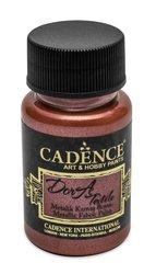 Textilní barva Cadence Dora Textile, met. červená, 50 ml