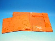 Složka A4 3 klopy s gumou oranžová /2-939/