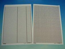 Podložka A4 6043 linka-čtvereček papír.