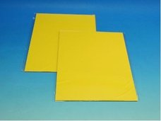 Barevný karton tmavě žlutý 160g 10ks