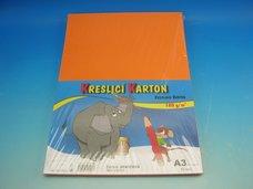 Kreslící karton A3/50 ks oranžový 180 g
