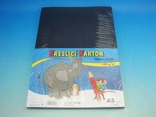 Kreslící karton A3 černý 180 g