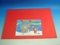 Kreslící karton A2/10 ks červený 180 g