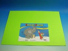 Kreslící karton A2/10ks zelený 180g