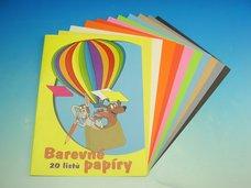 Složka barevných papírů EKO 20 listů