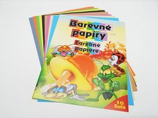 Složka barev.papírů A3, 10 listů