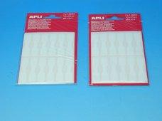 Etikety APLI 10x49mm na klenoty bílé
