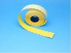Cenové etikety 25x16 pastelově žluté CONTACT