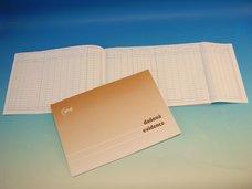 Peněžní deník s klopou A4, 24 listů