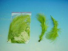 Peří MARABU 10 ks středně zelené velké