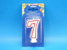 """Svíčka """"7"""" dortová 75 mm"""
