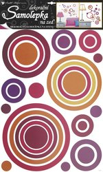 Samolepky pokoj. dekorace kruhy růžové 70x42cm /1057/