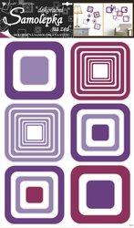 Samolepky pokoj. dekorace čtverce fialové 70x42cm /1064/