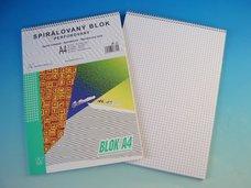 Blok spirálový A4 čtvereček