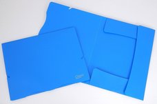 Složka A4 , 3 klopy  s gumou , modrá 2-530