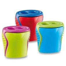 Ořezávátko Maped Boogy s odpadní nádobkou, 2 otvory - mix barev