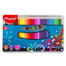 Maped Pastelky Color'Peps Metal Box - 36 barev