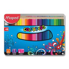 Maped Pastelky Color'Peps Metal Box - 48 barev