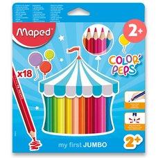 Pastelky Maped Jumbo - trojhranné 18 ks