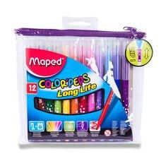 Dětské fixy MAPED Color´Peps, pouzdro na zip, 12 barev