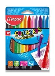 Plastové pastely Maped Color´Peps Plasticlean - 12 barev
