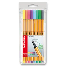 Stabilo Liner Point 88 - sada 8 pastelových barev