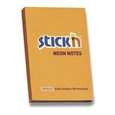 Samolepicí bloček Hopax Neon Stick Notes - 76×51 mm, oranžový