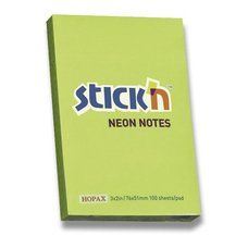 Samolepicí bloček Hopax Neon Stick Notes - 76×51 mm, zelený