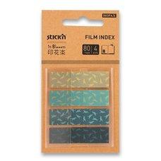 Hopax Samolepicí designové záložky Pop-Up in Bloom - 45 x 12 mm, 4 x 20 listů, ptáci