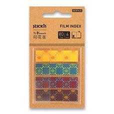 Hopax Samolepicí designové záložky Pop-Up in Bloom - 45 x 12 mm, 4 x 20 listů, vzory