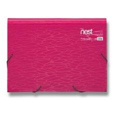 FolderMate Aktovka na spisy Nest - 330 x 240 x 35 mm, růžová