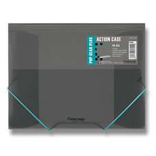 FolderMate Tříchlopňové desky s gumou Pop Gear Plus - A4, kouřová