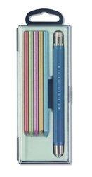 Sada modrých tužek+ 6 metalických tuh v plastovém pouzdře 5340
