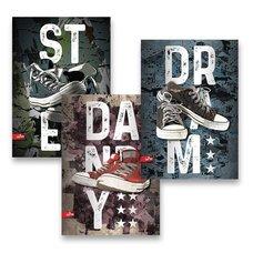 Školní sešit The Best Sneakers - A5, linkovaný, 40 listů, mix motivů