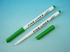 Popisovač  fine liner zelený trojhranný