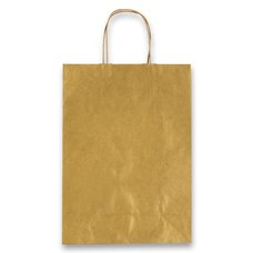 Papírová taška Allegra - 160 x 80 x 210 mm, vel. XS, zlatá